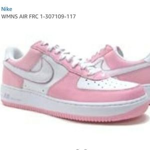 RARE Nike Air Force 1 pink 307109-117 low top shoe